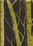 Woodland Birch Olive Wallpaper 1904/618 By Prestigious Textiles